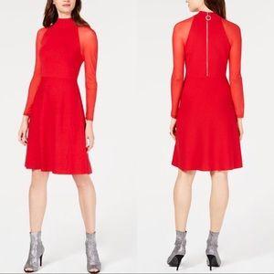 I.N.C. Mesh Sleeve Sweater Dress